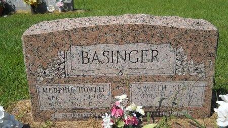 BASINGER, MURPHIE HOWELL - Webster County, Louisiana   MURPHIE HOWELL BASINGER - Louisiana Gravestone Photos