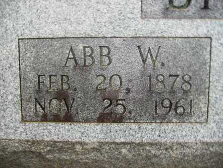BIGGS, ABB W (CLOSE UP) - Webster County, Louisiana | ABB W (CLOSE UP) BIGGS - Louisiana Gravestone Photos