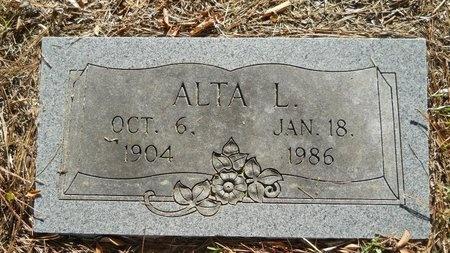 BRANTON, ALTA L - Webster County, Louisiana | ALTA L BRANTON - Louisiana Gravestone Photos