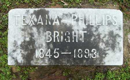 PHILLIPS BRIGHT, TEXANA - Webster County, Louisiana | TEXANA PHILLIPS BRIGHT - Louisiana Gravestone Photos