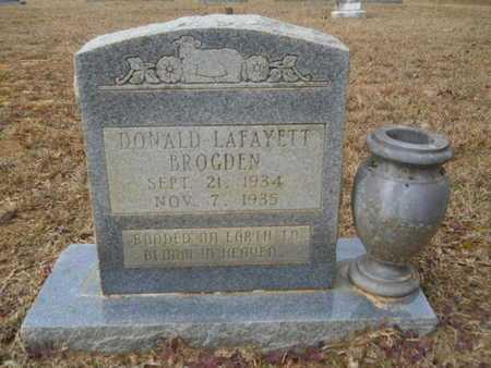 BROGDEN, DONALD LAFAYETT - Webster County, Louisiana | DONALD LAFAYETT BROGDEN - Louisiana Gravestone Photos