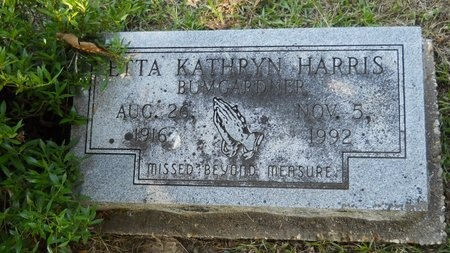 BUMGARDNER, ETTA KATHRYN - Webster County, Louisiana   ETTA KATHRYN BUMGARDNER - Louisiana Gravestone Photos