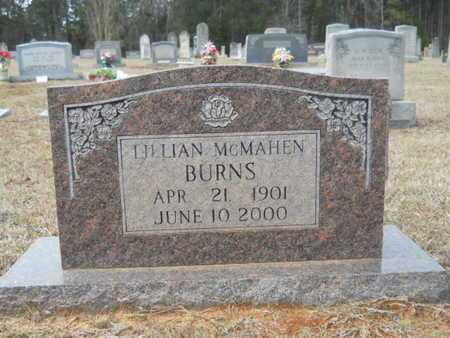 MCMAHEN BURNS, LILLIAN - Webster County, Louisiana | LILLIAN MCMAHEN BURNS - Louisiana Gravestone Photos