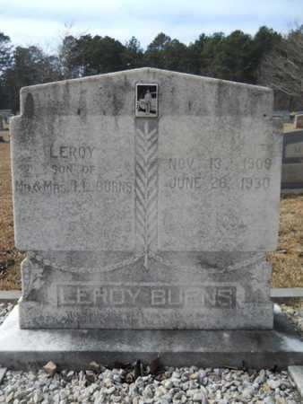 BURNS, LEROY - Webster County, Louisiana | LEROY BURNS - Louisiana Gravestone Photos