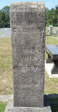 BURROW, MARY ELIZABETH - Webster County, Louisiana | MARY ELIZABETH BURROW - Louisiana Gravestone Photos