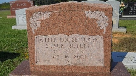 COKER SLACK BUTLER, AILEEN LOUISE - Webster County, Louisiana | AILEEN LOUISE COKER SLACK BUTLER - Louisiana Gravestone Photos