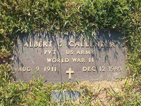 CALLENDER, ALBERT J (VETERAN WWII) - Webster County, Louisiana | ALBERT J (VETERAN WWII) CALLENDER - Louisiana Gravestone Photos