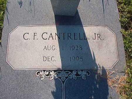 CANTRELL, C F, JR - Webster County, Louisiana   C F, JR CANTRELL - Louisiana Gravestone Photos