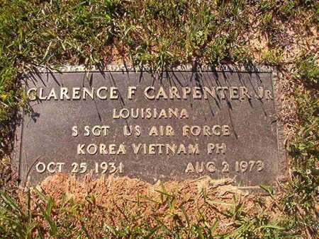 CARPENTER,, CLARENCE F, JR (VETERAN 2 WARS) - Webster County, Louisiana   CLARENCE F, JR (VETERAN 2 WARS) CARPENTER, - Louisiana Gravestone Photos