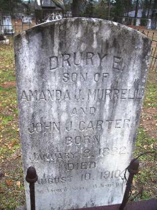 CARTER, DRURY E - Webster County, Louisiana | DRURY E CARTER - Louisiana Gravestone Photos