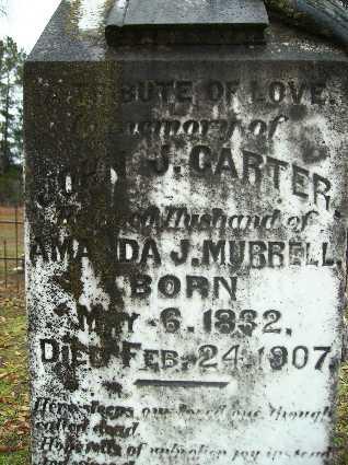 CARTER, JOHN J (CLOSE UP) - Webster County, Louisiana | JOHN J (CLOSE UP) CARTER - Louisiana Gravestone Photos