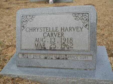 HARVEY CARVER, CHRYSTELLE - Webster County, Louisiana   CHRYSTELLE HARVEY CARVER - Louisiana Gravestone Photos