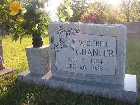 "CHANLER, W D ""BILL"" - Webster County, Louisiana | W D ""BILL"" CHANLER - Louisiana Gravestone Photos"