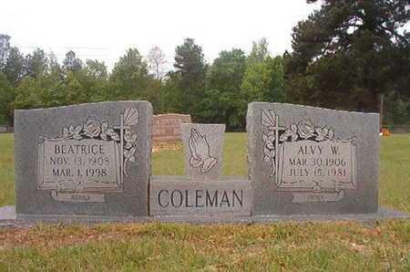 COLEMAN, BEATRICE - Webster County, Louisiana | BEATRICE COLEMAN - Louisiana Gravestone Photos