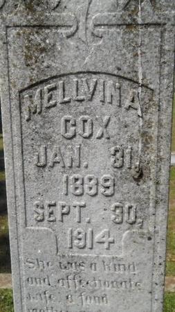 SINCLAIR COX, MELLVINA (CLOSE UP) - Webster County, Louisiana | MELLVINA (CLOSE UP) SINCLAIR COX - Louisiana Gravestone Photos