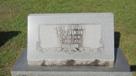 DEMPSEY CRAWFORD, MARY - Webster County, Louisiana | MARY DEMPSEY CRAWFORD - Louisiana Gravestone Photos