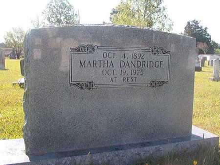 DANDRIDGE, MARTHA - Webster County, Louisiana | MARTHA DANDRIDGE - Louisiana Gravestone Photos