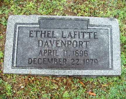 DAVENPORT, ETHEL LAFITTE - Webster County, Louisiana | ETHEL LAFITTE DAVENPORT - Louisiana Gravestone Photos