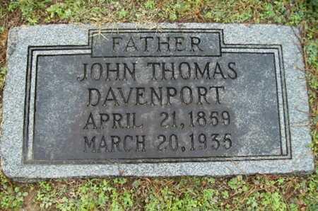 DAVENPORT, JOHN THOMAS - Webster County, Louisiana   JOHN THOMAS DAVENPORT - Louisiana Gravestone Photos