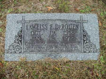 DEROUEN, LAWEISS E - Webster County, Louisiana | LAWEISS E DEROUEN - Louisiana Gravestone Photos