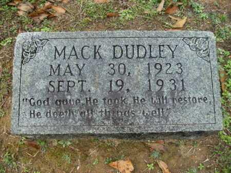 DUDLEY, MACK - Webster County, Louisiana   MACK DUDLEY - Louisiana Gravestone Photos