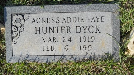 DYCK, AGNESS ADDIE FAYE - Webster County, Louisiana | AGNESS ADDIE FAYE DYCK - Louisiana Gravestone Photos