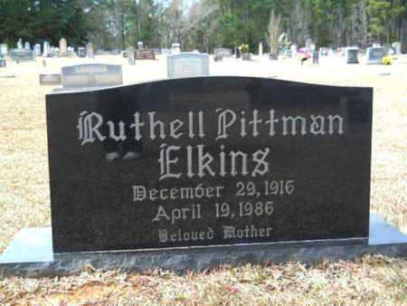 PITTMAN ELKINS, RUTHELL - Webster County, Louisiana | RUTHELL PITTMAN ELKINS - Louisiana Gravestone Photos