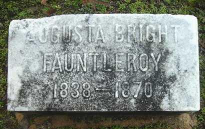 FAUNTLEROY, AUGUSTA - Webster County, Louisiana | AUGUSTA FAUNTLEROY - Louisiana Gravestone Photos