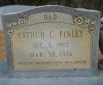 FINLEY, ARTHUR C (CLOSE UP) - Webster County, Louisiana | ARTHUR C (CLOSE UP) FINLEY - Louisiana Gravestone Photos