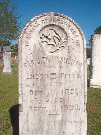 AINSWORTH FITTS, SARAH D - Webster County, Louisiana | SARAH D AINSWORTH FITTS - Louisiana Gravestone Photos