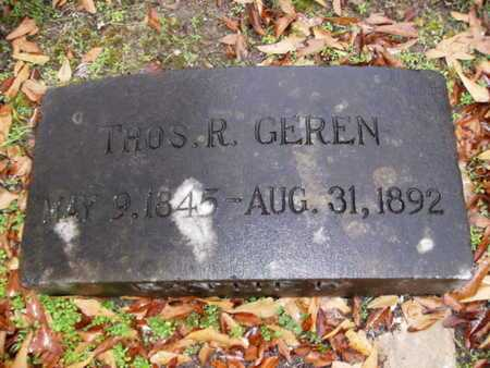 GEREN, THOMAS R - Webster County, Louisiana | THOMAS R GEREN - Louisiana Gravestone Photos