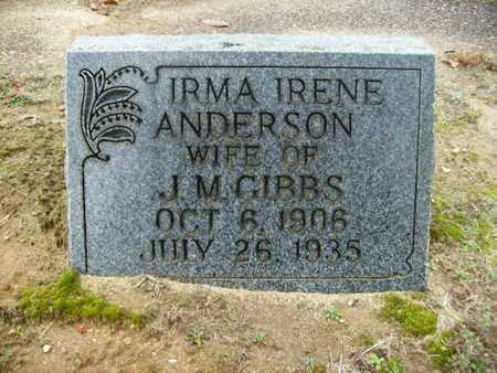 GIBBS, IRMA IRENE - Webster County, Louisiana | IRMA IRENE GIBBS - Louisiana Gravestone Photos