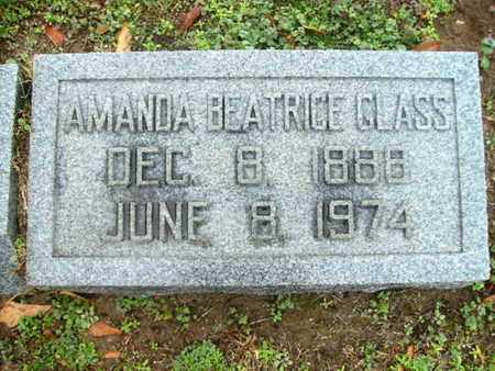GLASS, AMANDA BEATRICE - Webster County, Louisiana | AMANDA BEATRICE GLASS - Louisiana Gravestone Photos