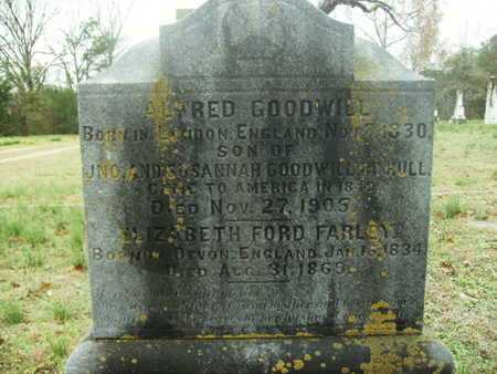 FARLEY GOODWILL, ELIZABETH FORD - Webster County, Louisiana | ELIZABETH FORD FARLEY GOODWILL - Louisiana Gravestone Photos