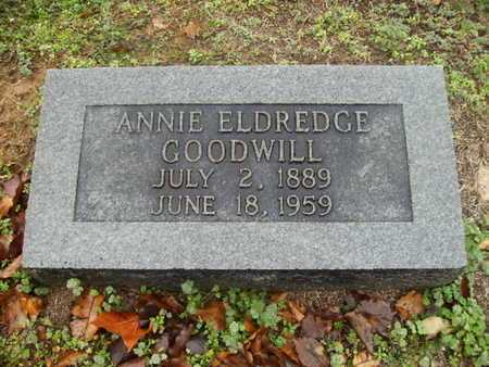ELDREDGE GOODWILL, ANNIE - Webster County, Louisiana | ANNIE ELDREDGE GOODWILL - Louisiana Gravestone Photos