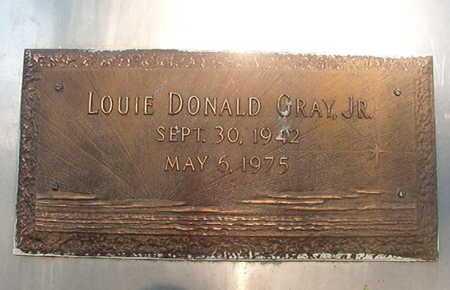 GRAY, LOUIE DONALD, JR - Webster County, Louisiana   LOUIE DONALD, JR GRAY - Louisiana Gravestone Photos