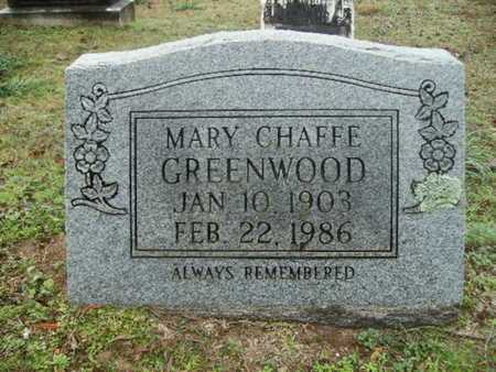 CHAFFE GREENWOOD, MARY - Webster County, Louisiana | MARY CHAFFE GREENWOOD - Louisiana Gravestone Photos