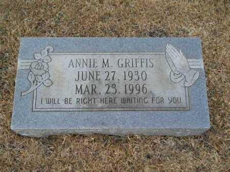 GRIFFIS, ANNIE M - Webster County, Louisiana   ANNIE M GRIFFIS - Louisiana Gravestone Photos