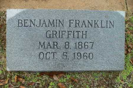 GRIFFITH, BENJAMIN FRANKLIN - Webster County, Louisiana   BENJAMIN FRANKLIN GRIFFITH - Louisiana Gravestone Photos