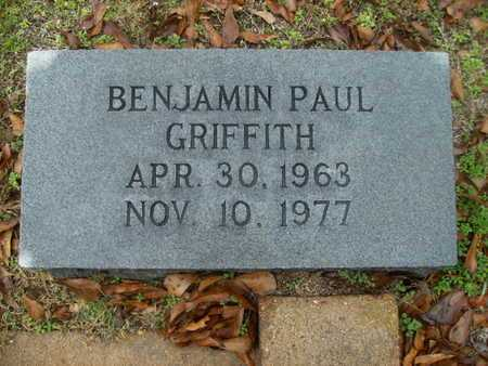 GRIFFITH, BENJAMIN PAUL - Webster County, Louisiana | BENJAMIN PAUL GRIFFITH - Louisiana Gravestone Photos
