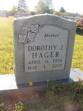 HAGER, DOROTHY J - Webster County, Louisiana   DOROTHY J HAGER - Louisiana Gravestone Photos