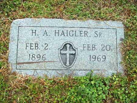 HAIGLER, H A, SR - Webster County, Louisiana | H A, SR HAIGLER - Louisiana Gravestone Photos
