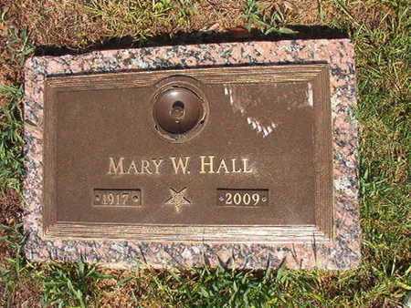 HALL, MARY W - Webster County, Louisiana | MARY W HALL - Louisiana Gravestone Photos