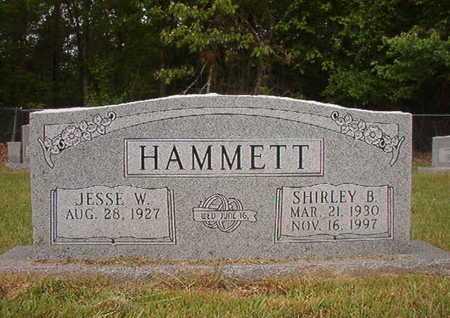 HAMMETT, SHIRLEY B - Webster County, Louisiana   SHIRLEY B HAMMETT - Louisiana Gravestone Photos