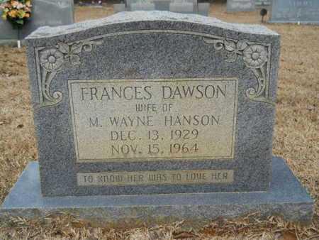 HANSON, FRANCES - Webster County, Louisiana | FRANCES HANSON - Louisiana Gravestone Photos