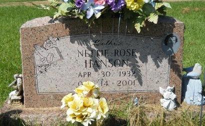 HANSON, NETTIE ROSE - Webster County, Louisiana | NETTIE ROSE HANSON - Louisiana Gravestone Photos
