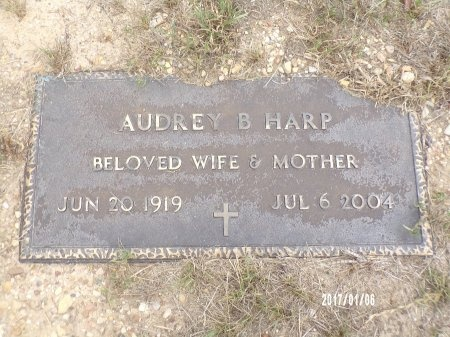 HARP, AUDREY B - Webster County, Louisiana | AUDREY B HARP - Louisiana Gravestone Photos