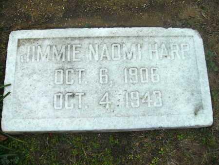 HARP, JIMMIE NAOMI - Webster County, Louisiana   JIMMIE NAOMI HARP - Louisiana Gravestone Photos
