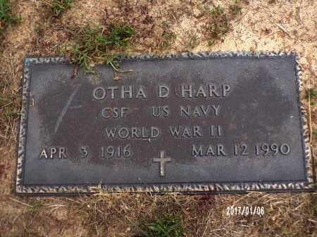 HARP  , OTHA D (VETERAN WWII) - Webster County, Louisiana | OTHA D (VETERAN WWII) HARP   - Louisiana Gravestone Photos