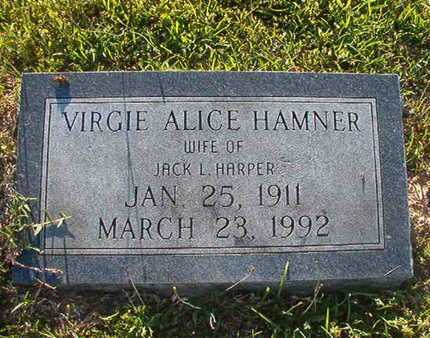 HARPER, VIRGIE ALICE - Webster County, Louisiana | VIRGIE ALICE HARPER - Louisiana Gravestone Photos